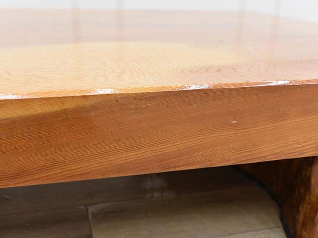 画像:屋久杉の座卓側面